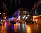 Вечірня пішохідна вулиця Проскурівська
