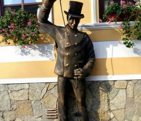 """A monument for a """"Chimney sweep"""" in Kamianets-Podilskyi"""